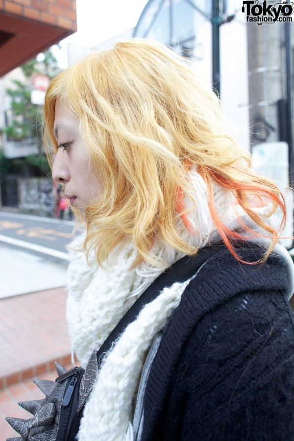 Guy with blonde & red hair