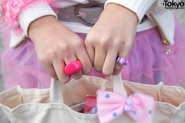 Pink Rings and Bows in Harajuku