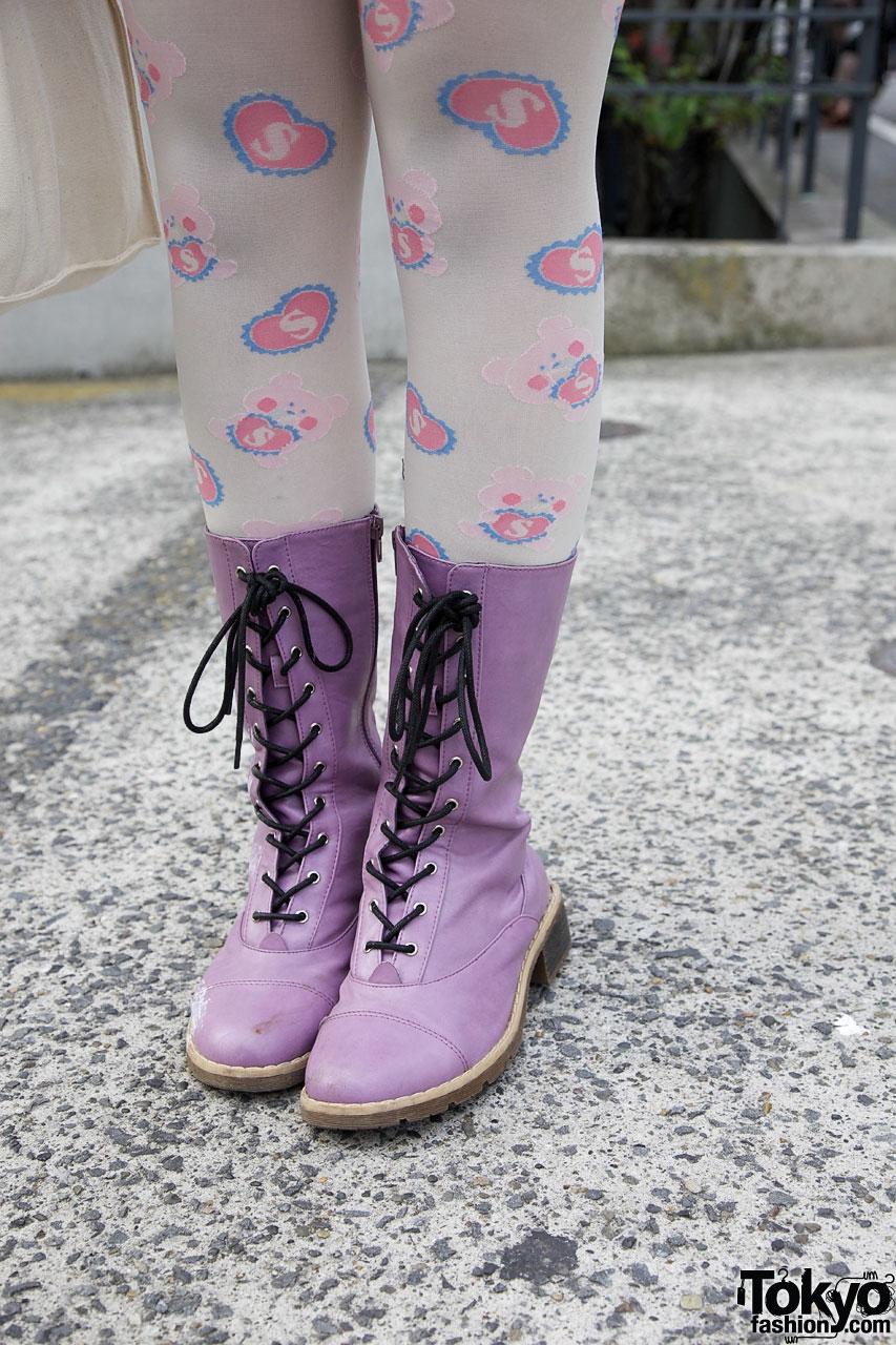 Harajuku Girls W Animal Ears Bows Amp Lots Of Pink
