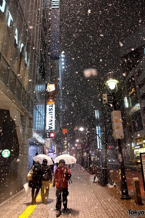 Snow in Shibuya