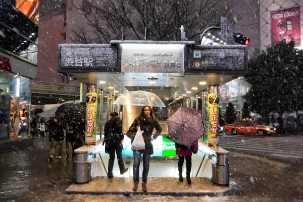 Shibuya Station Snow