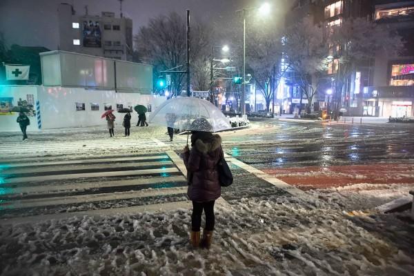 Omotesando Dori in the Snow