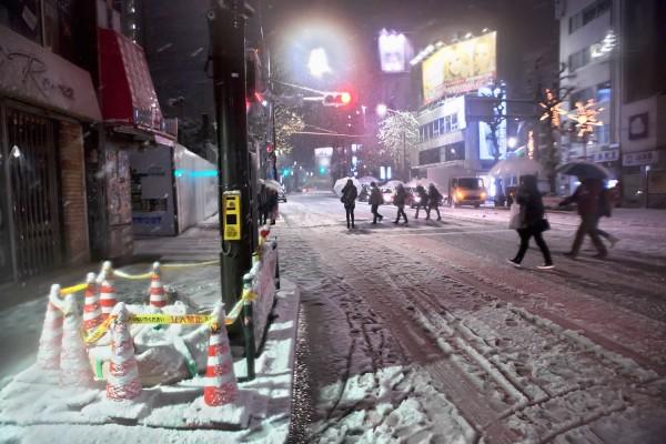 Takeshita Dori & Meiji Dori in the Snow
