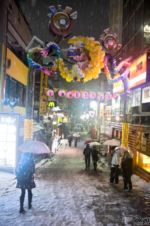 Takeshita Dori Snow