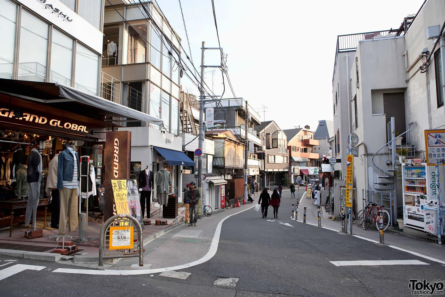Cat Street In Harajuku Empty After Earthquake Tokyo