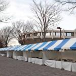 Empty Yoyogi Park Festival after Earthquake
