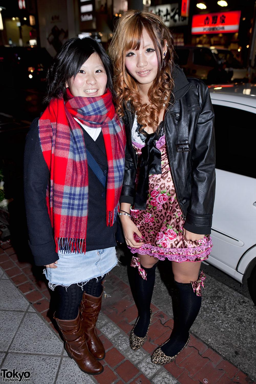 Two Japanese Girls in Shibuya