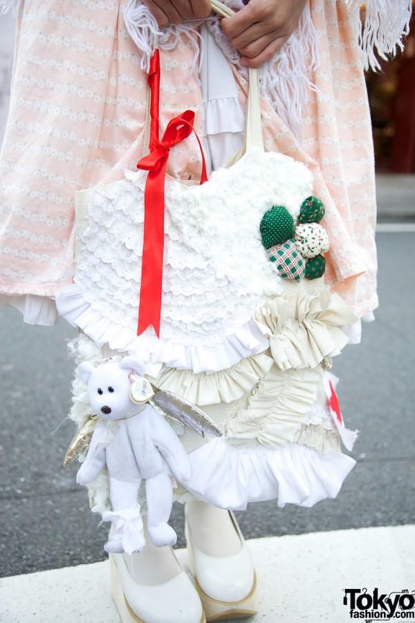 Handmade bag & Beanie Baby teddy bear