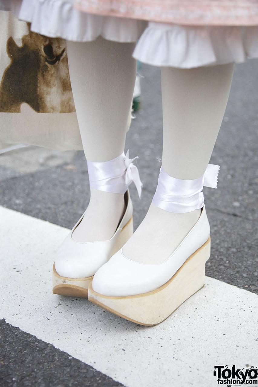 Earmuffs Hair Bows White Tights Amp Cute Shoes