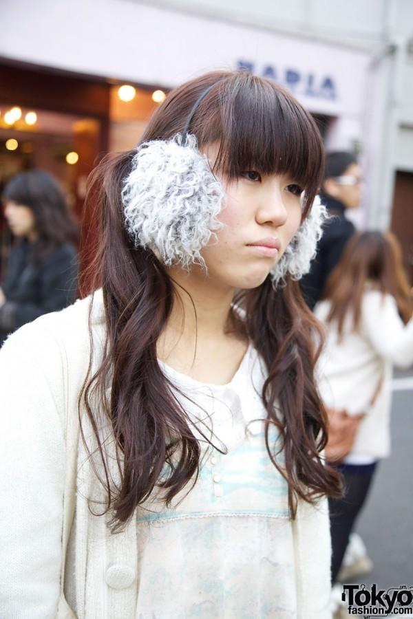 Bleu Bleuet furry earmuffs