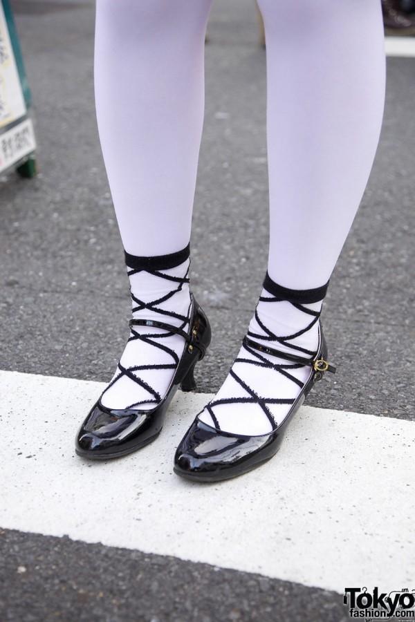 Nadia socks & patent leather shoes