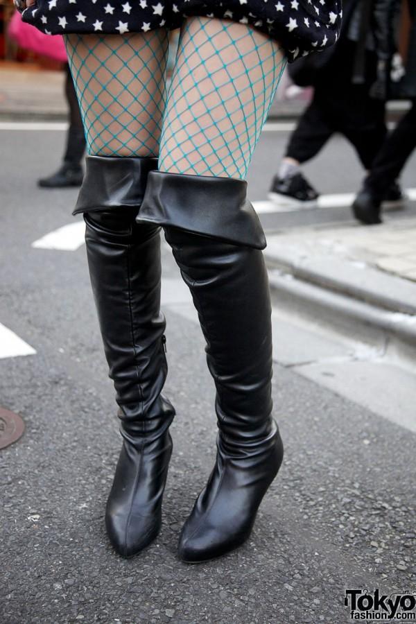 Leather stiletto botts from Shibuya