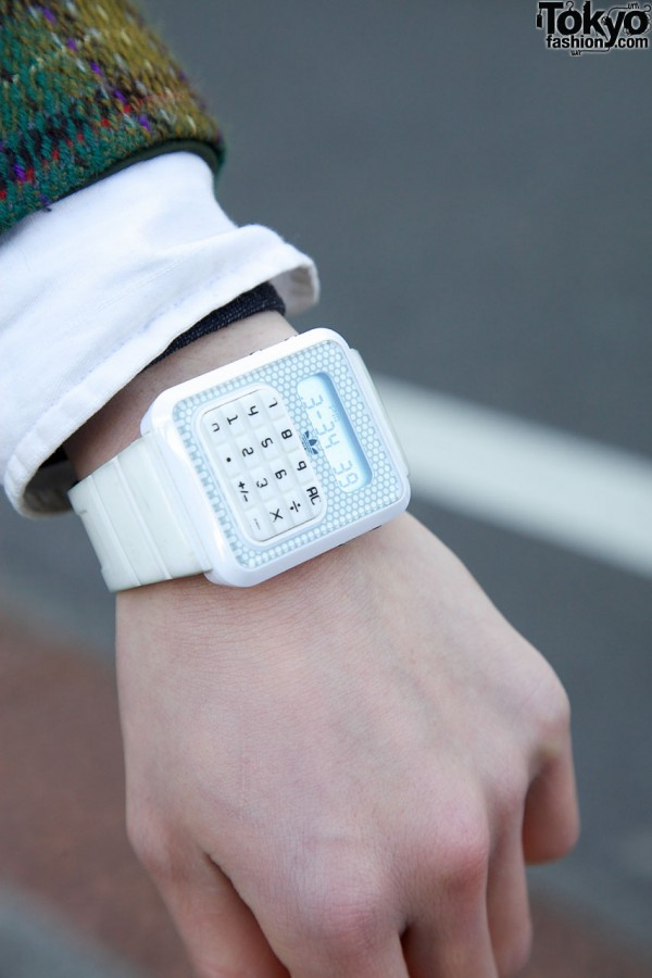 White Adidas watch