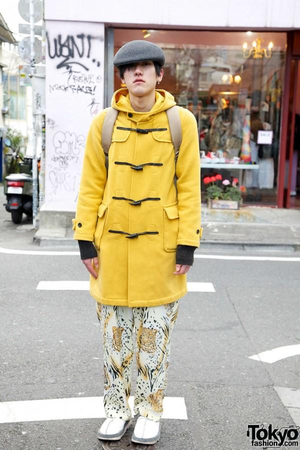 Mustard Coat & Jungle Pants