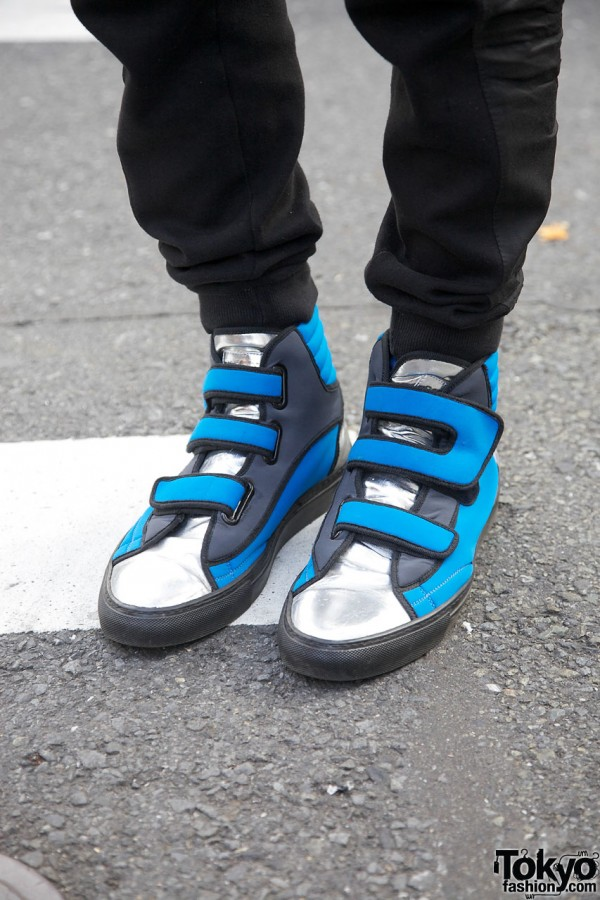 Blue-and-silver Raf Simons sneakers