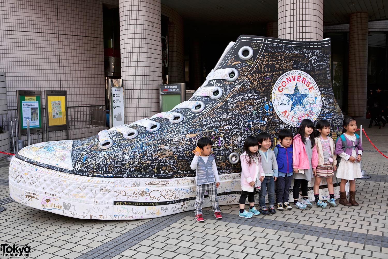 Giant Converse Sneaker in Tokyo