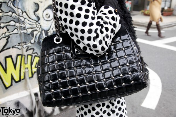 Black Lip Service handbag
