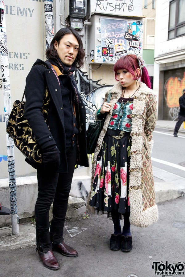 Grimoire Managers in Tapestry Coat & Vintage Cardigan