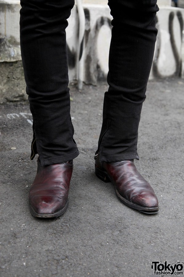 Burgundy leather shoes from LA