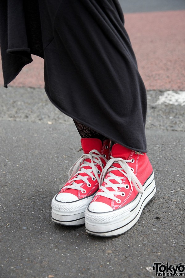 Red platform sneakers from Nadia