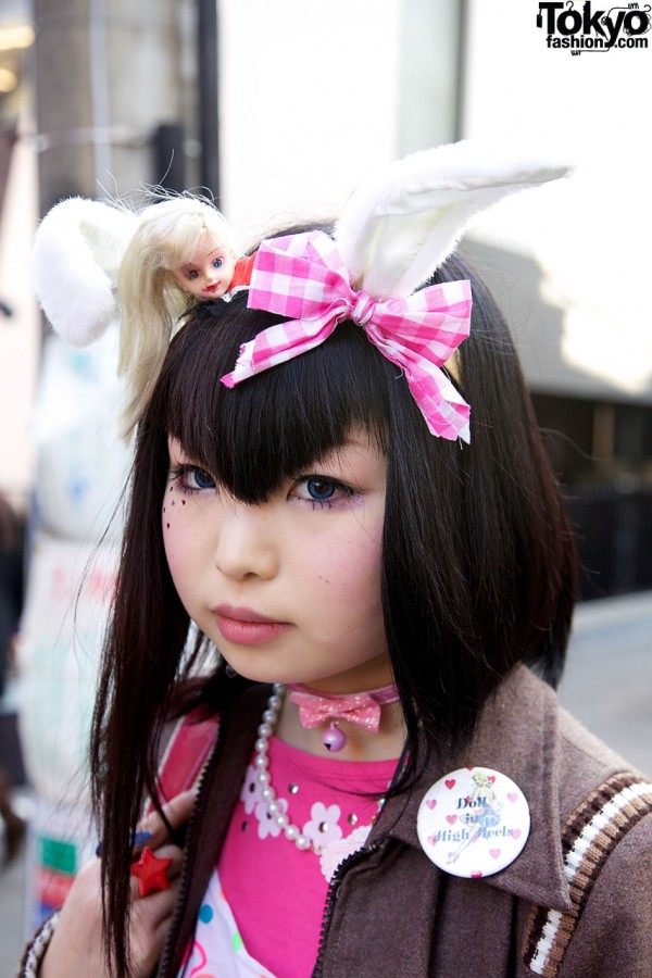 Bunny ears & dolls head