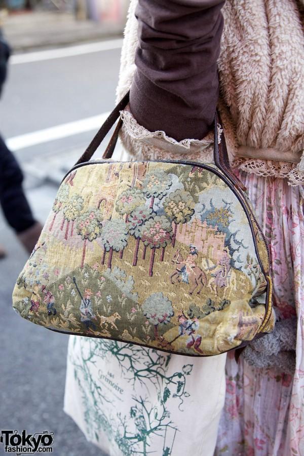 Resale tapestry handbag