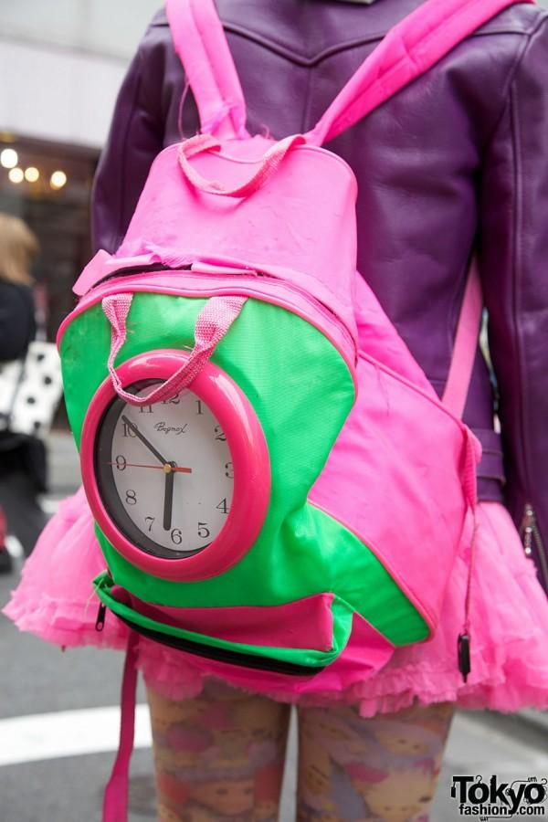 Harajuku Clock Backpack