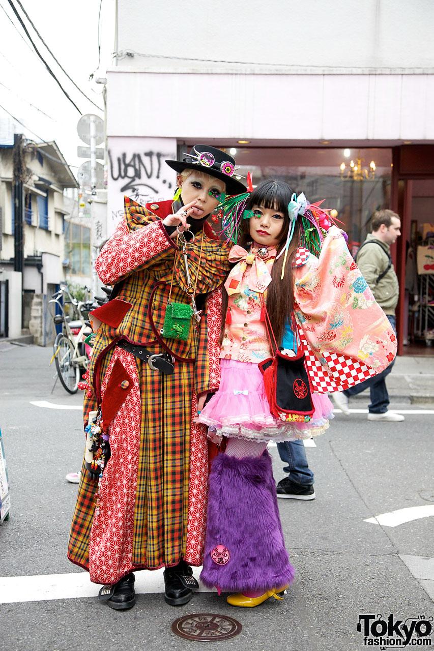 Takuya Angel Kimono-Inspired Street Fashion In Harajuku
