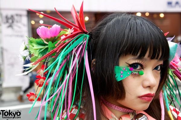 Feather Eyelashes & Takuya Angel Hairpiece
