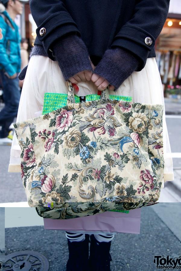 Handmade tapestry bag