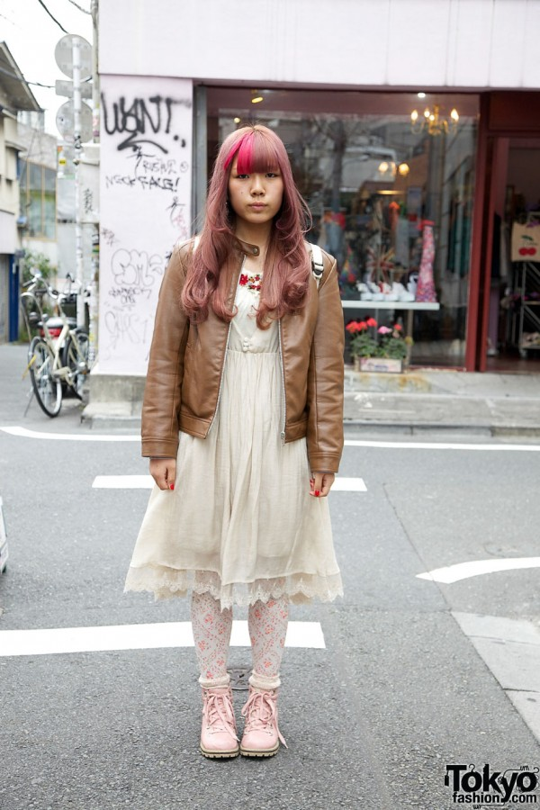 Axes Femme dress with leather jacket