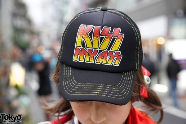 KISS Cap in Harajuku