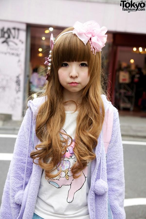 Bangs, long curls & 6%DokiDoki headband