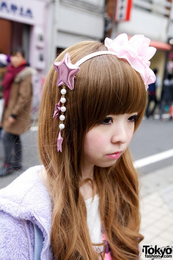 6%DokiDoki headband with pearls & stars