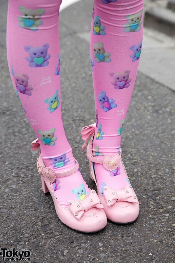 Nile Perch tights & Angelic Pretty shoes