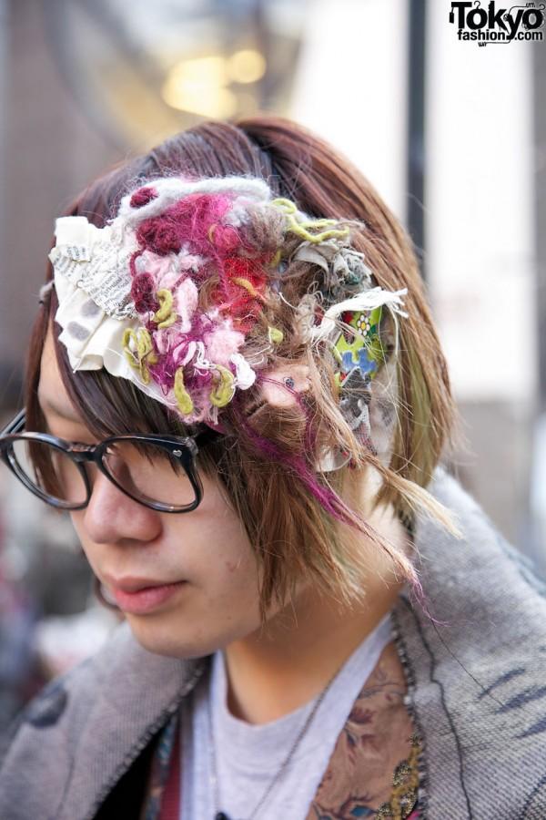 Yarn & fabric hair decoration