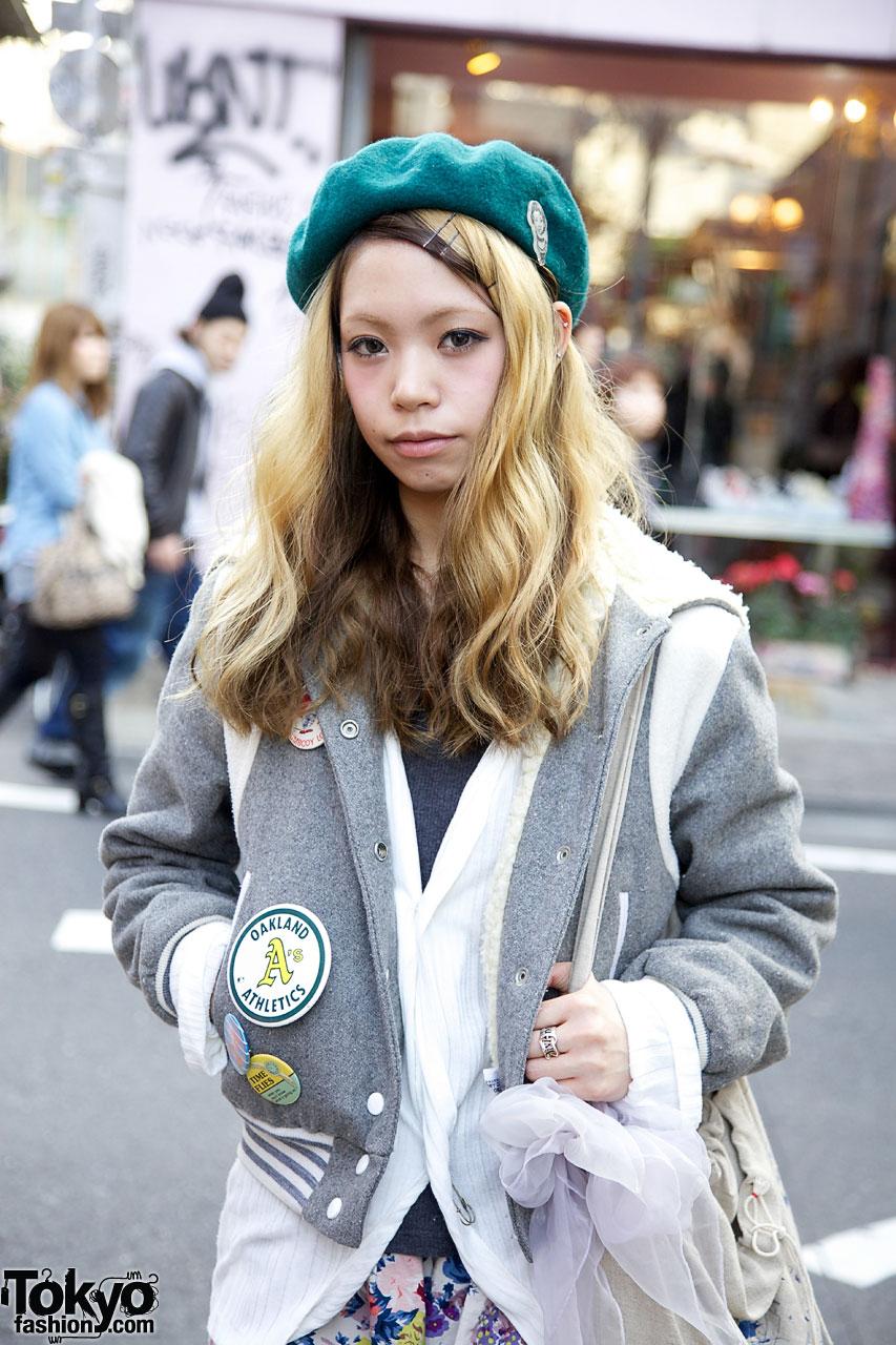 164429ea9c7df ... Mini Skirt   Leopard Print Leggings Green beret   gary baseball jacket
