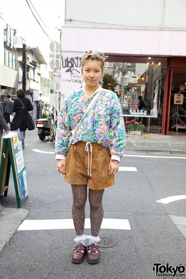Leopard Print & Dr. Martens Mary Janes in Harajuku