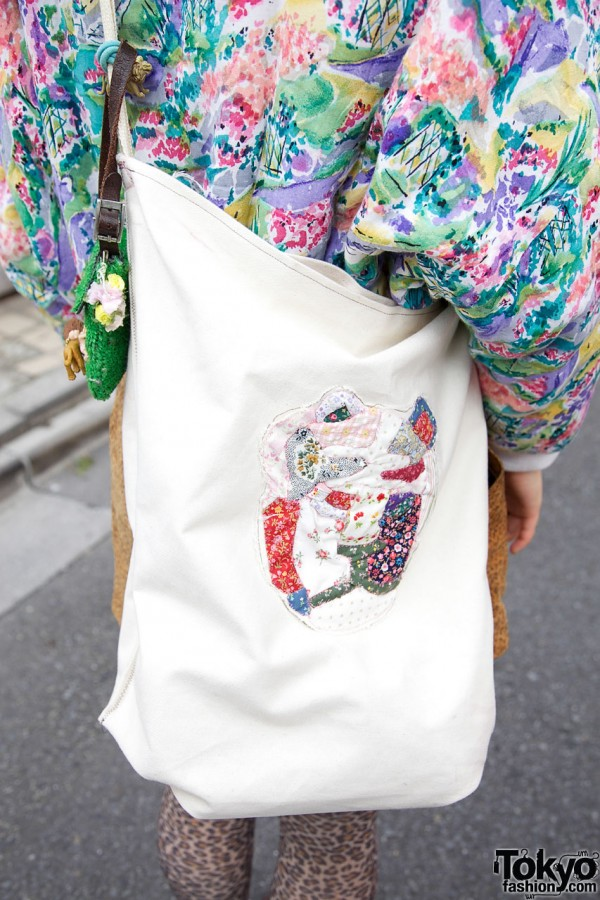 Handmade Quilted Bag in Harajuku