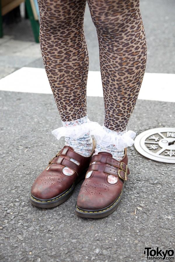 Ruffle Socks & Dr. Martens Mary Janes