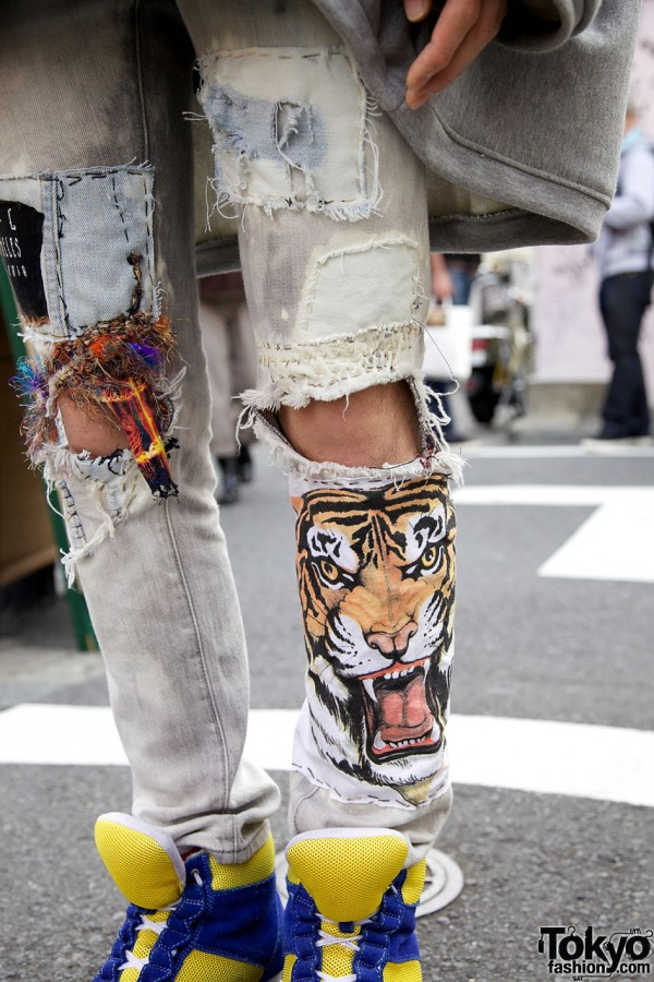 Tiger Artwork Jeans