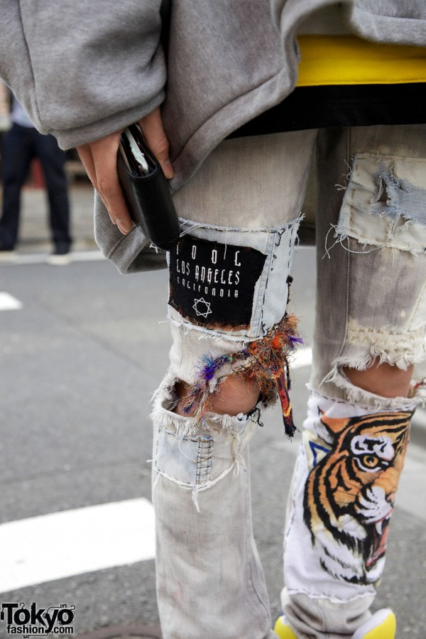 Remade Torn Skinny Jeans