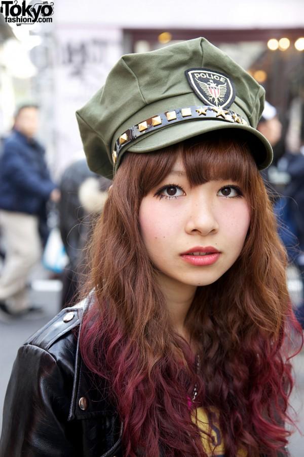 Police Hat in Harajuku