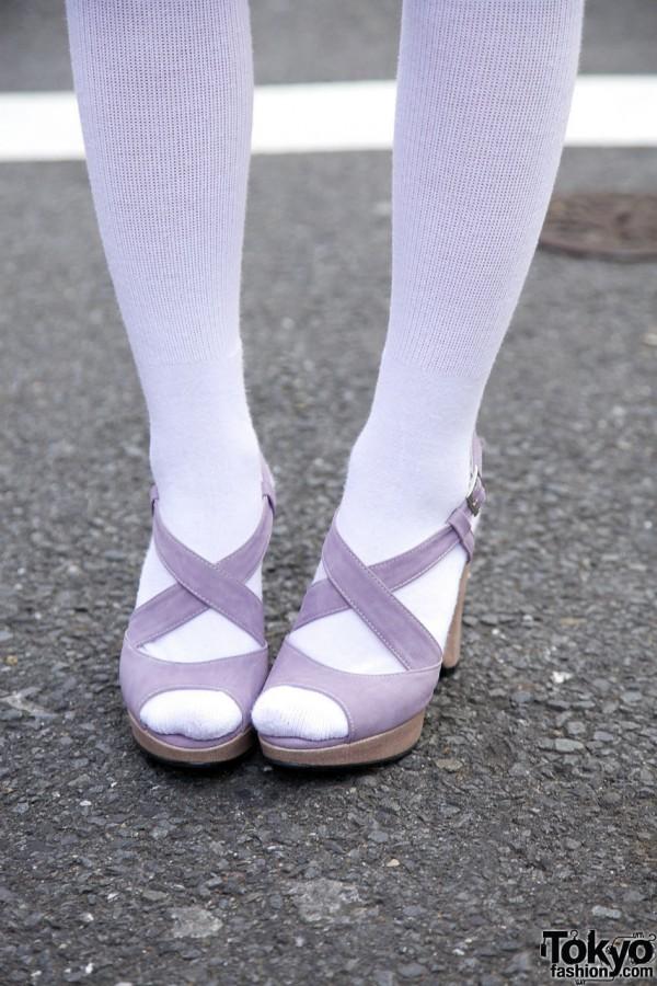 Purple Heels in Harajuku