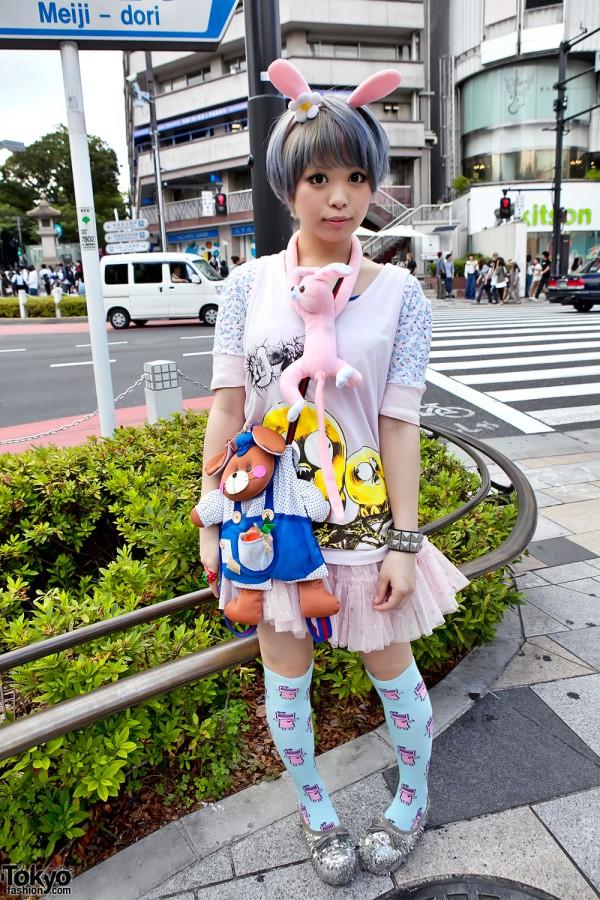 Cute Rabbit-Inspired Harajuku Fashion