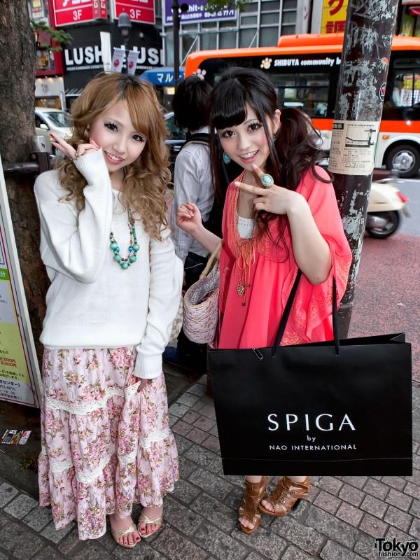 Shibuya Girls With Big Smiles & Turquoise Jewelry