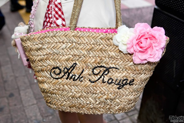Ank Rouge Straw Handbag