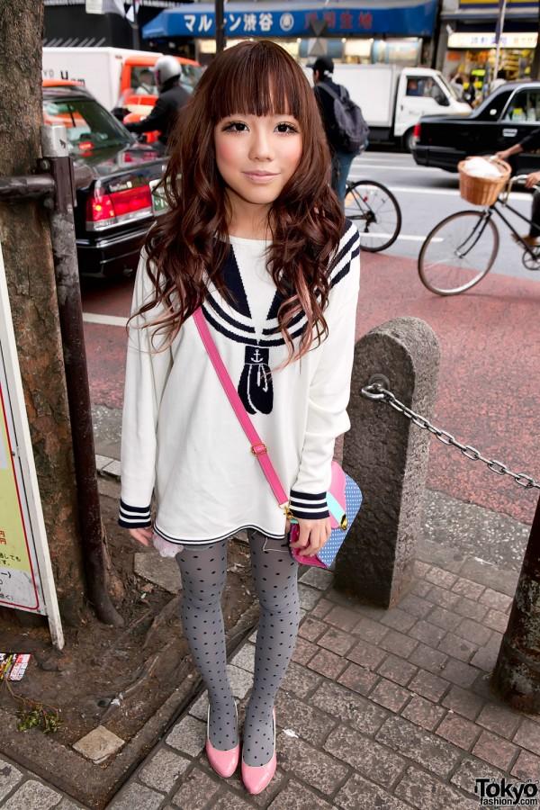 Shibuya Girl in Sailor Uniform-inspired Sweater