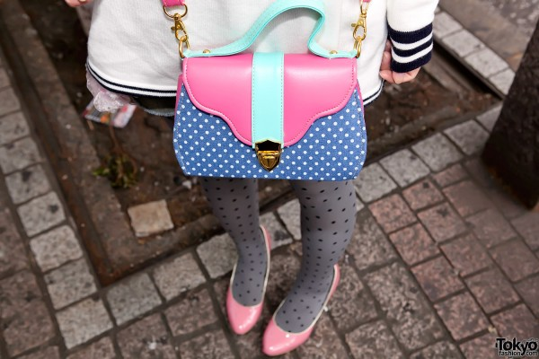 Pink & Blue Purse in Shibuya
