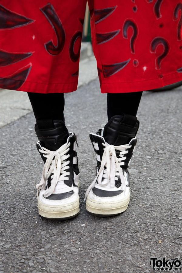 Dickies shorts & Rick Owens sneakers
